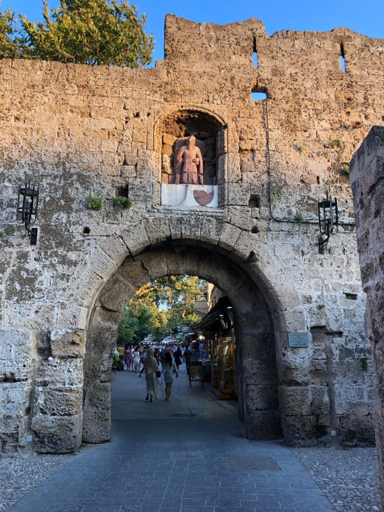 Entrance to the old city of Rhodes